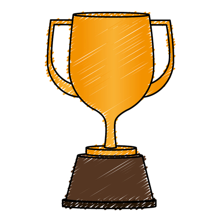 trophy cup isolated icon vector illustration design Illustration