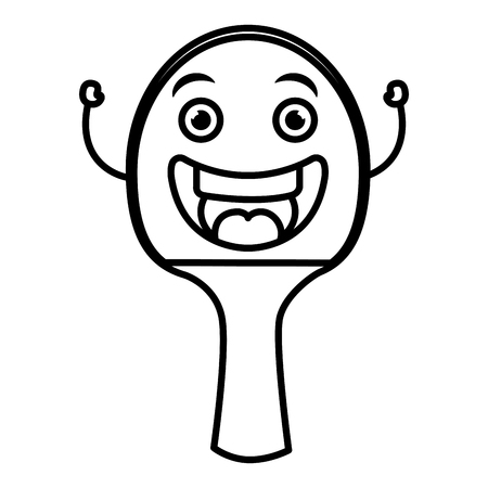 table tennis racket character vector illustration design Illusztráció