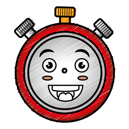 chronometer timer  character vector illustration design