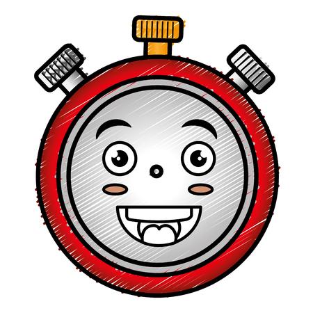 Progettazione dell'illustrazione di vettore del carattere del temporizzatore del cronometro Archivio Fotografico - 83916017