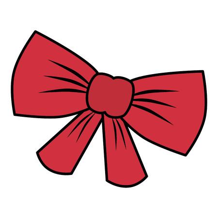 cute bow tie isolated icon vector illustration design Ilustração