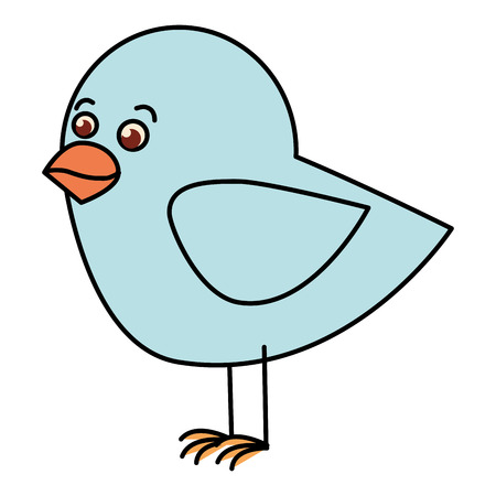 Diseño lindo del ejemplo del vector del icono del pájaro Foto de archivo - 83916027