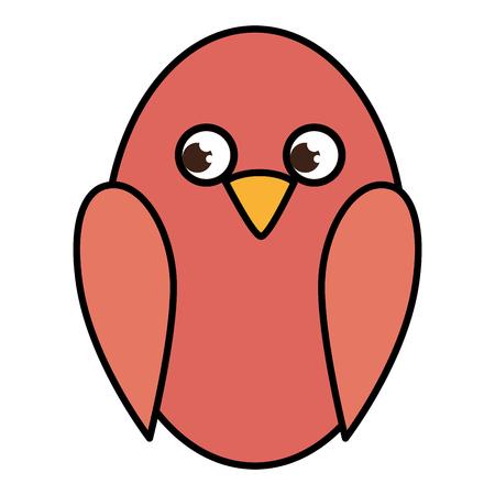 Diseño lindo del ejemplo del vector del icono del pájaro Foto de archivo - 83916030