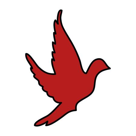 かわいい鳩のアイコン ベクトル イラスト デザイン