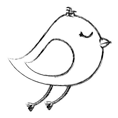 Diseño lindo del ejemplo del vector del icono del pájaro Foto de archivo - 83916055