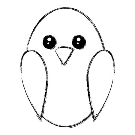 Diseño lindo del ejemplo del vector del icono del pájaro Foto de archivo - 83916157