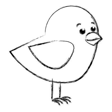 Lindo pájaro aislado icono de diseño de ilustración vectorial Foto de archivo - 83916161