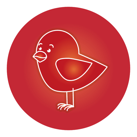 cute bird isolated icon vector illustration design Ilustração