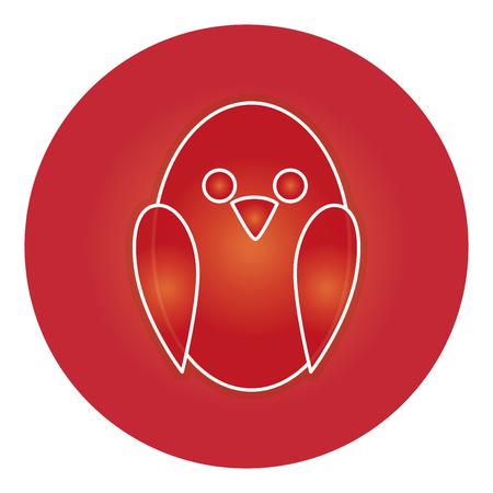 Diseño lindo del ejemplo del vector del icono del pájaro Foto de archivo - 83916190