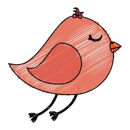 Lindo pájaro aislado icono de diseño de ilustración vectorial Foto de archivo - 83916251