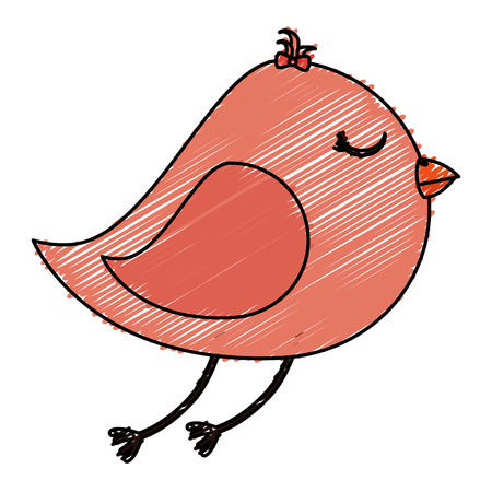 cute bird isolated icon vector illustration design Illustration