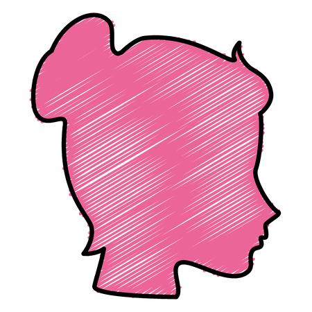 head woman profile icon vector illustration design