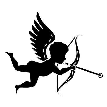cupid angel isolated icon vector illustration design Illustration