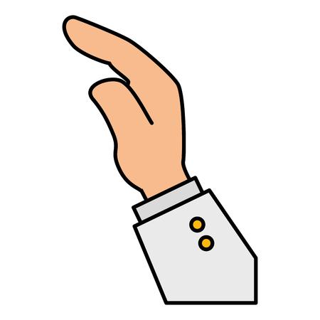 Main demandant isolé conception d'icône vector illustration Vecteurs