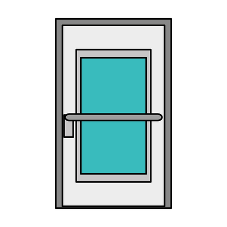 interior decoration: room door isolated icon vector illustration design