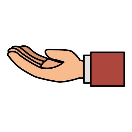 Main demandant isolé conception d'icône vector illustration Banque d'images - 83916739