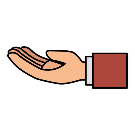 Hand asking isolated icon vector illustration design Illustration