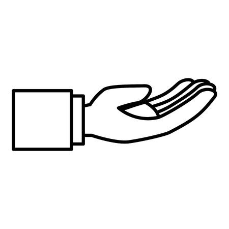 Main demandant isolé conception d'icône vector illustration Banque d'images - 83916767