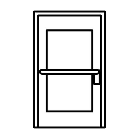 部屋のドアのアイコン ベクトル イラスト デザインを分離しました。  イラスト・ベクター素材