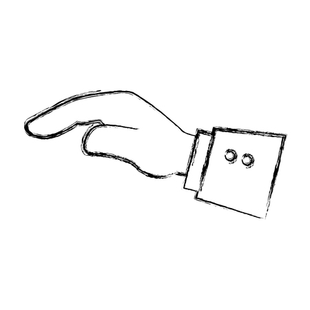 Hand asking isolated icon vector illustration design Ilustrace