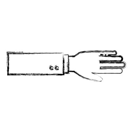 Main demandant isolé conception d'icône vector illustration Banque d'images - 83916797