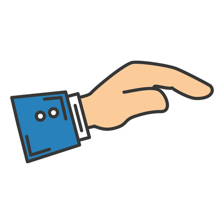 Hand asking isolated icon vector illustration design Ilustracja