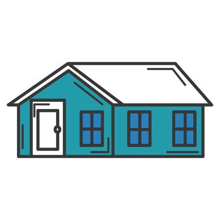 exterior house isolated icon vector illustration design Ilustrace