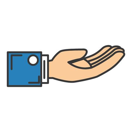 main demandant isolé icône du design d & # 39 ; illustration vectorielle Vecteurs