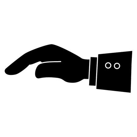 Main demandant la conception d'icône isolé vector illustration Banque d'images - 83916831