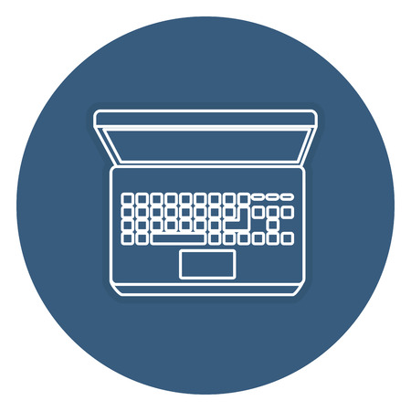 touchpad: laptop computer isolated icon vector illustration design