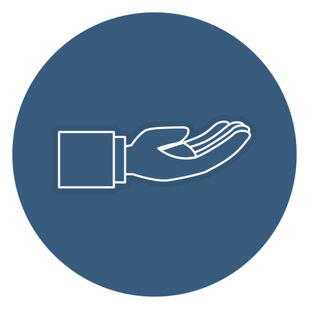 Hand asking isolated icon vector illustration design 向量圖像