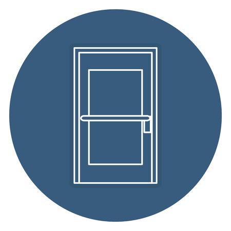 Kamer deur geïsoleerde pictogram vector illustratie ontwerp