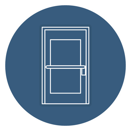room door isolated icon vector illustration design