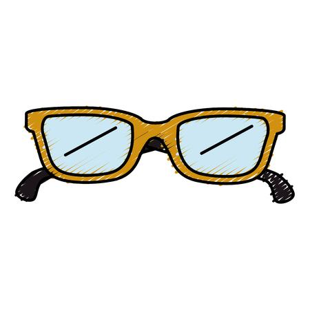 Het pictogramontwerp van oogglazen geïsoleerd pictogram Stockfoto - 83917192