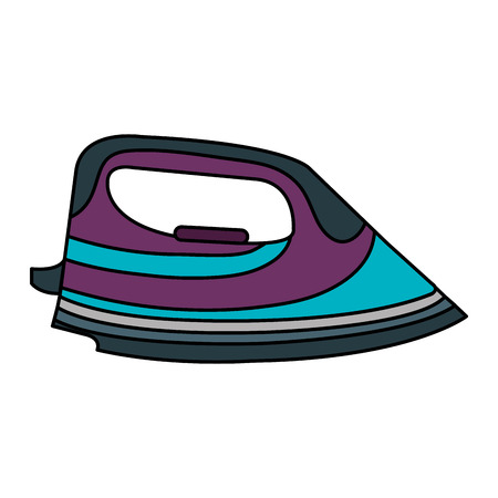 clothes iron isolated icon vector illustration design