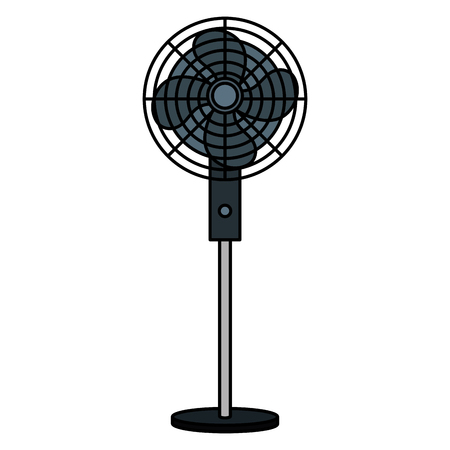 electric fan isolated icon vector illustration design Ilustrace