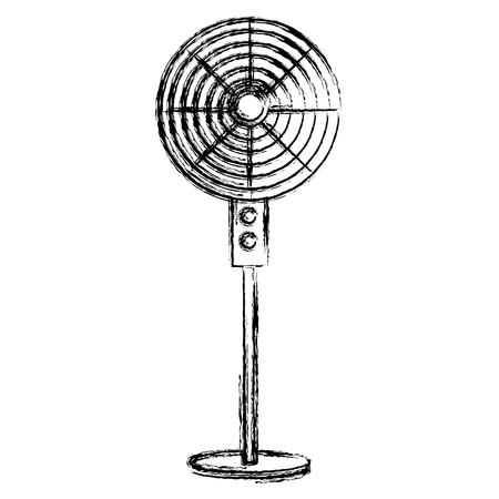 Diseño de ventilador eléctrico aislado icono vector ilustración Foto de archivo - 83918125
