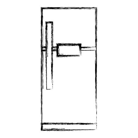 냉장고 어플 라이언 스는 고립 된 아이콘 벡터 일러스트 디자인