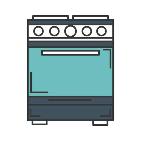 キッチン オーブン分離アイコン ベクトル イラスト デザイン 写真素材 - 83918138