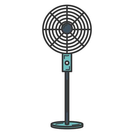 electric fan isolated icon vector illustration design Ilustracja