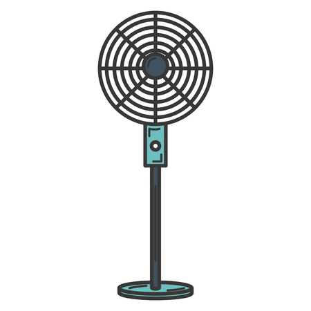 electric fan isolated icon vector illustration design Illustration