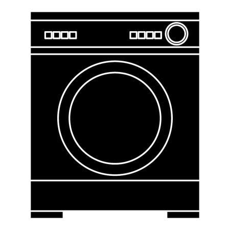Lavatrice isolato icona illustrazione vettoriale illustrazione Archivio Fotografico - 83918151