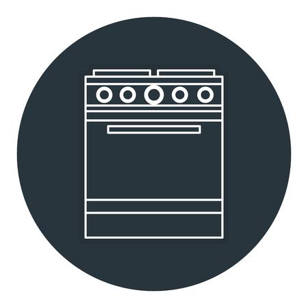 キッチン オーブン分離アイコン ベクトル イラスト デザイン