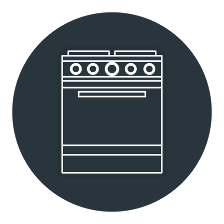 kitchen oven isolated icon vector illustration design