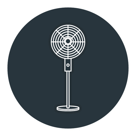 Elektrische ventilator geïsoleerde pictogram vector illustratie ontwerp