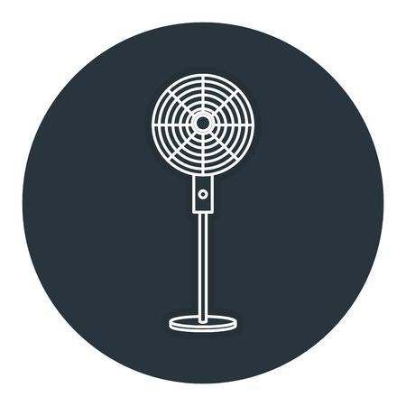Fã de eletricidade ícone isolado ilustração vetorial design Foto de archivo - 83918169