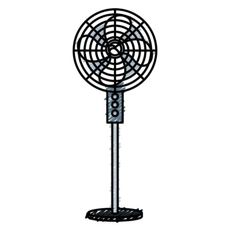 Diseño de ventilador eléctrico aislado icono vector ilustración Foto de archivo - 83918181
