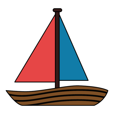 sailboat travel isolated icon vector illustration design Stock fotó - 83921522