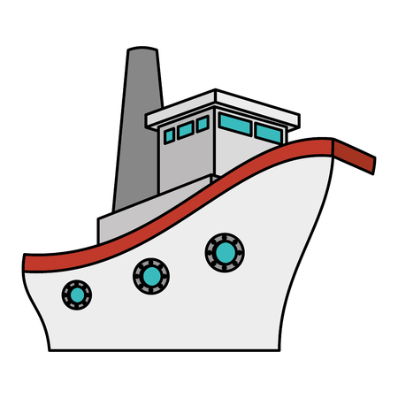 cruise boat isolated icon vector illustration design Banco de Imagens - 83921525
