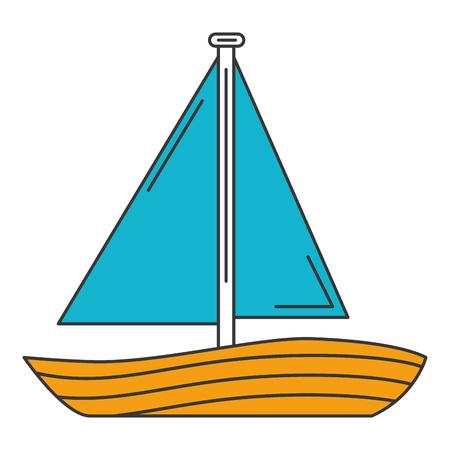 ヨット旅行分離アイコン ベクトル イラスト デザイン